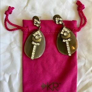 Silpada K&R earrings with bling